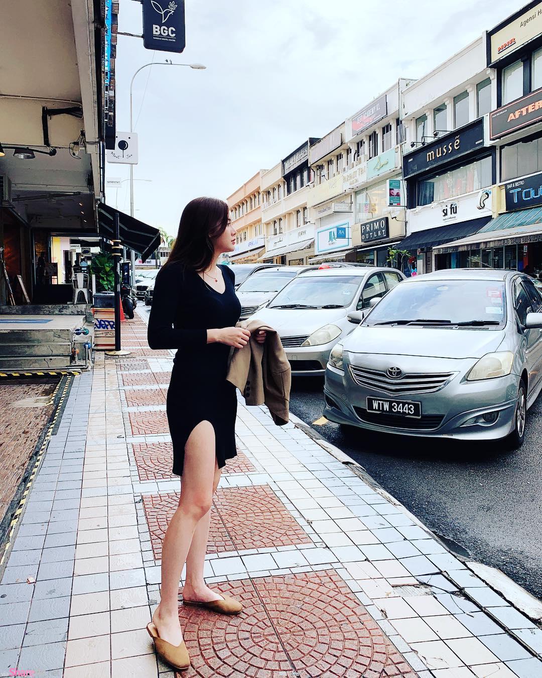 大马正妹Li Peng,性感中路大开