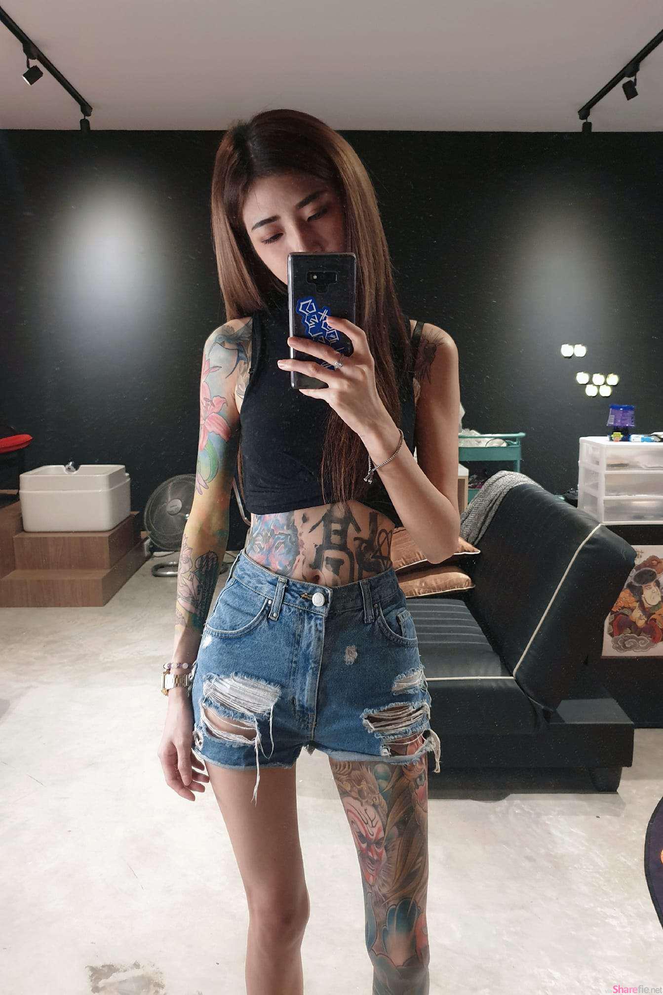 大马纹身正妹Se Ven,甜美又霸气