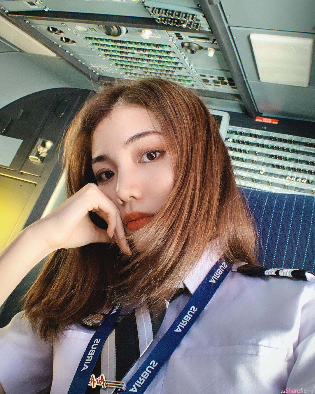 大马超正女飞机师Cecilia,网友:第一次想被女生载