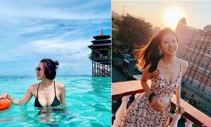 大马正妹Christine Pang海中倩影,碧海蓝天最美风景是她