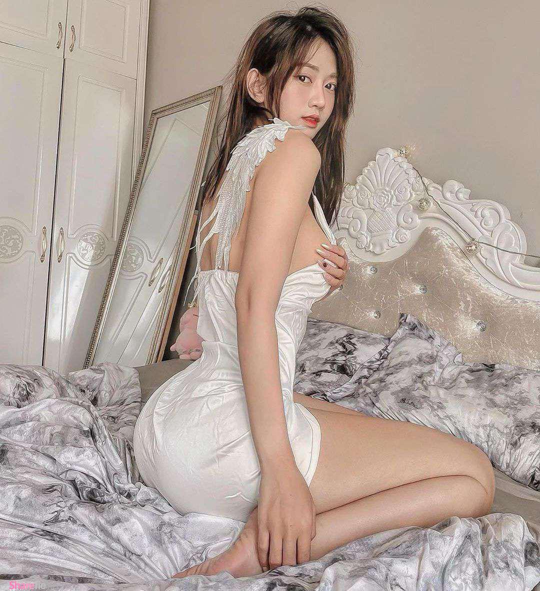 越南正妹超狂曲线,穿睡衣解放超犯规