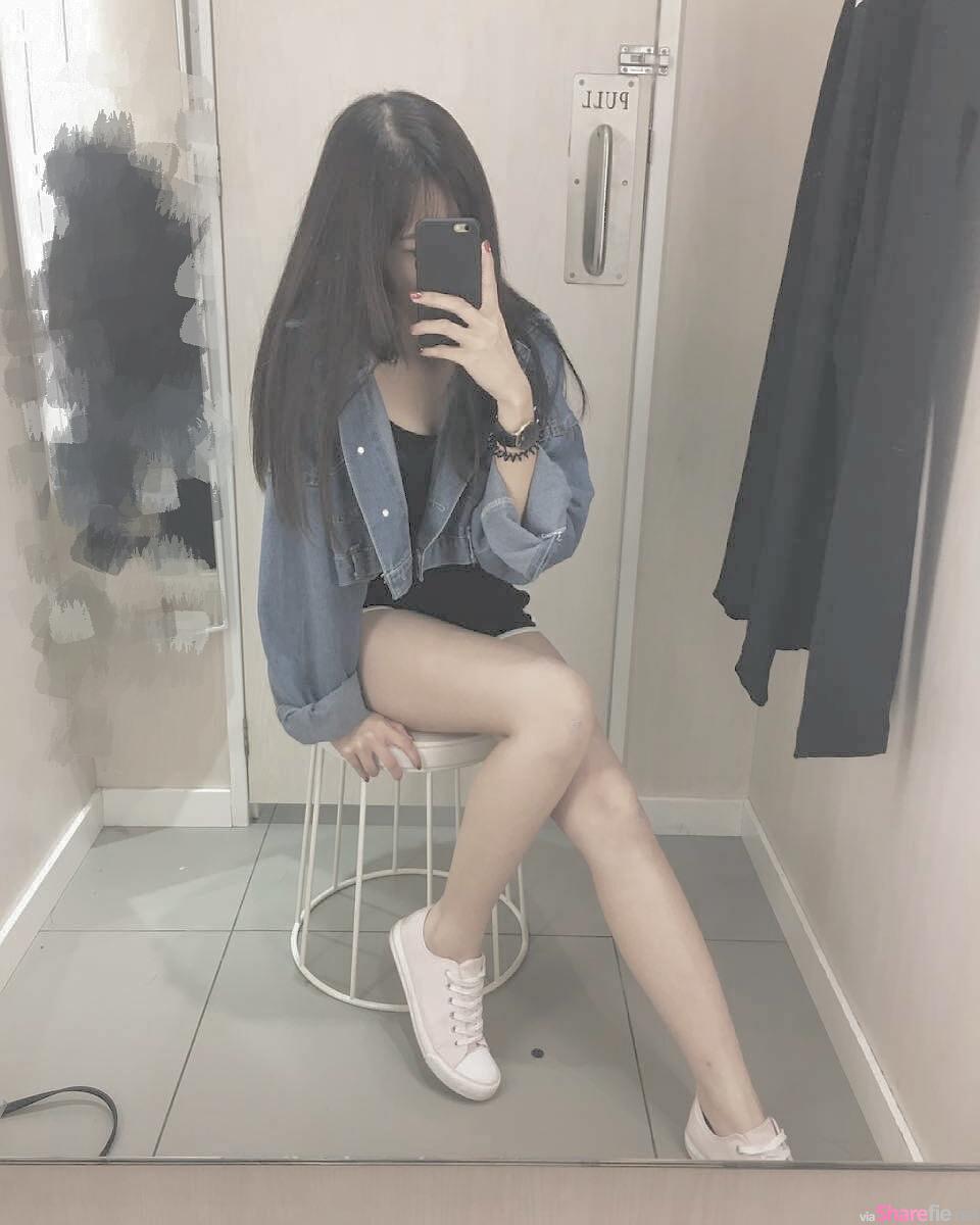 大马正妹「Miu哥」穿上真理裤自拍,曲线诱人