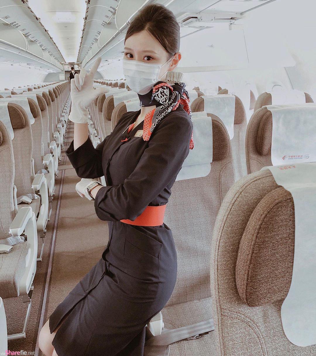 台湾正妹空姐Akey Chan颜值甜美,卸下制服更迷人