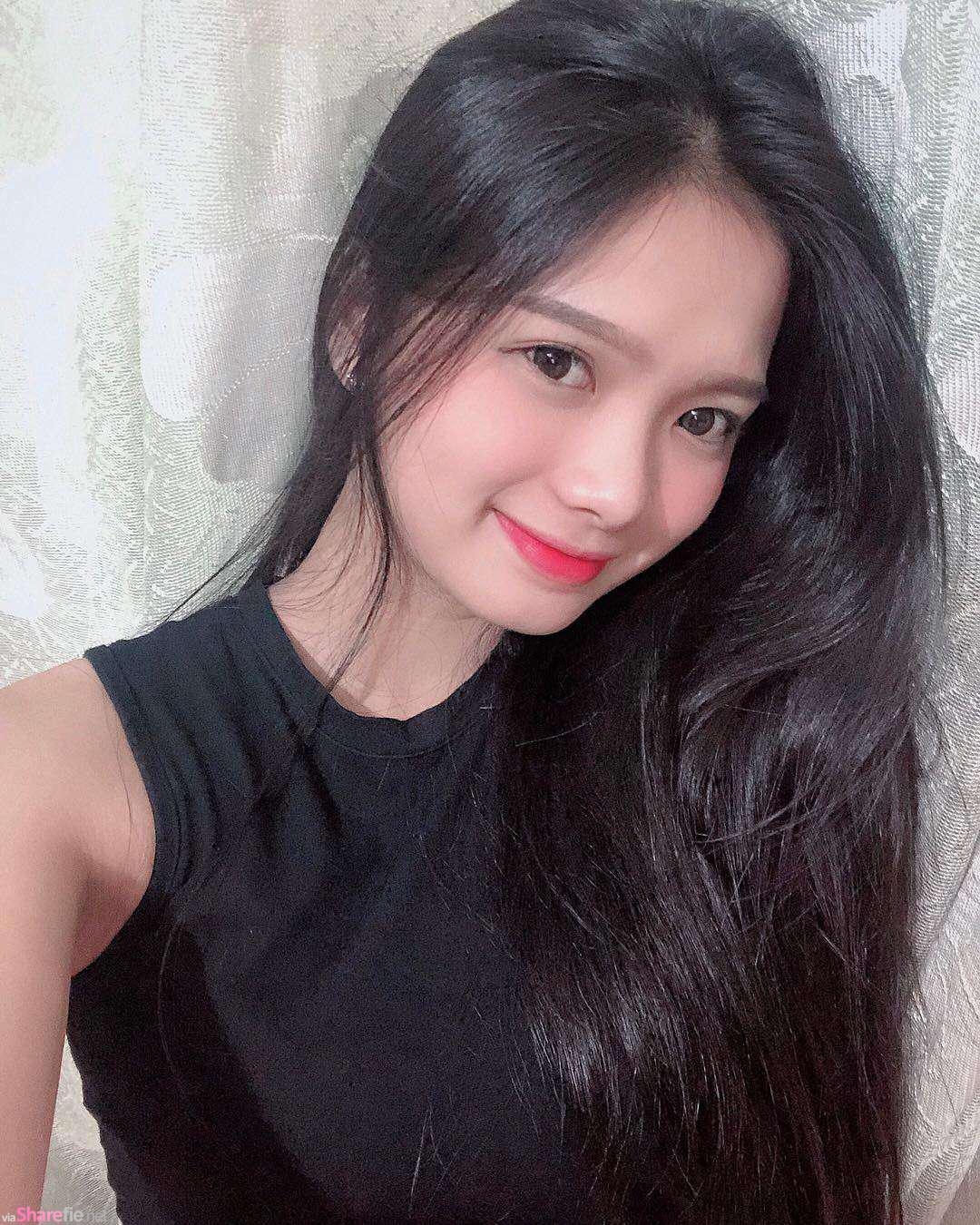 越南长髮正妹,甜美眼神好迷人