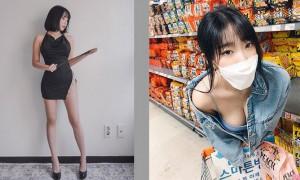 韩国女模逛超市,弯腰自拍辣死网友