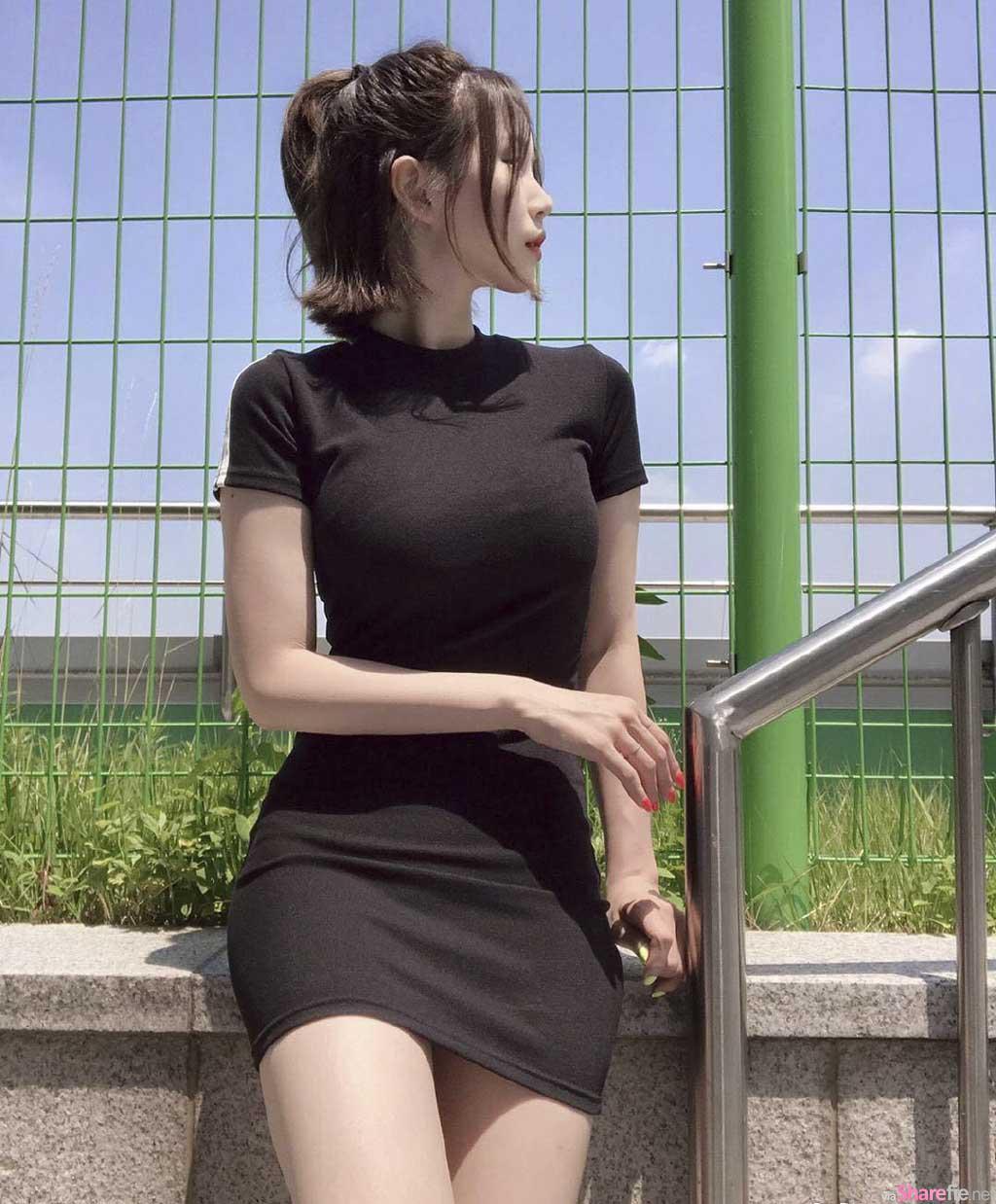 短裙正妹,身材曲线满分