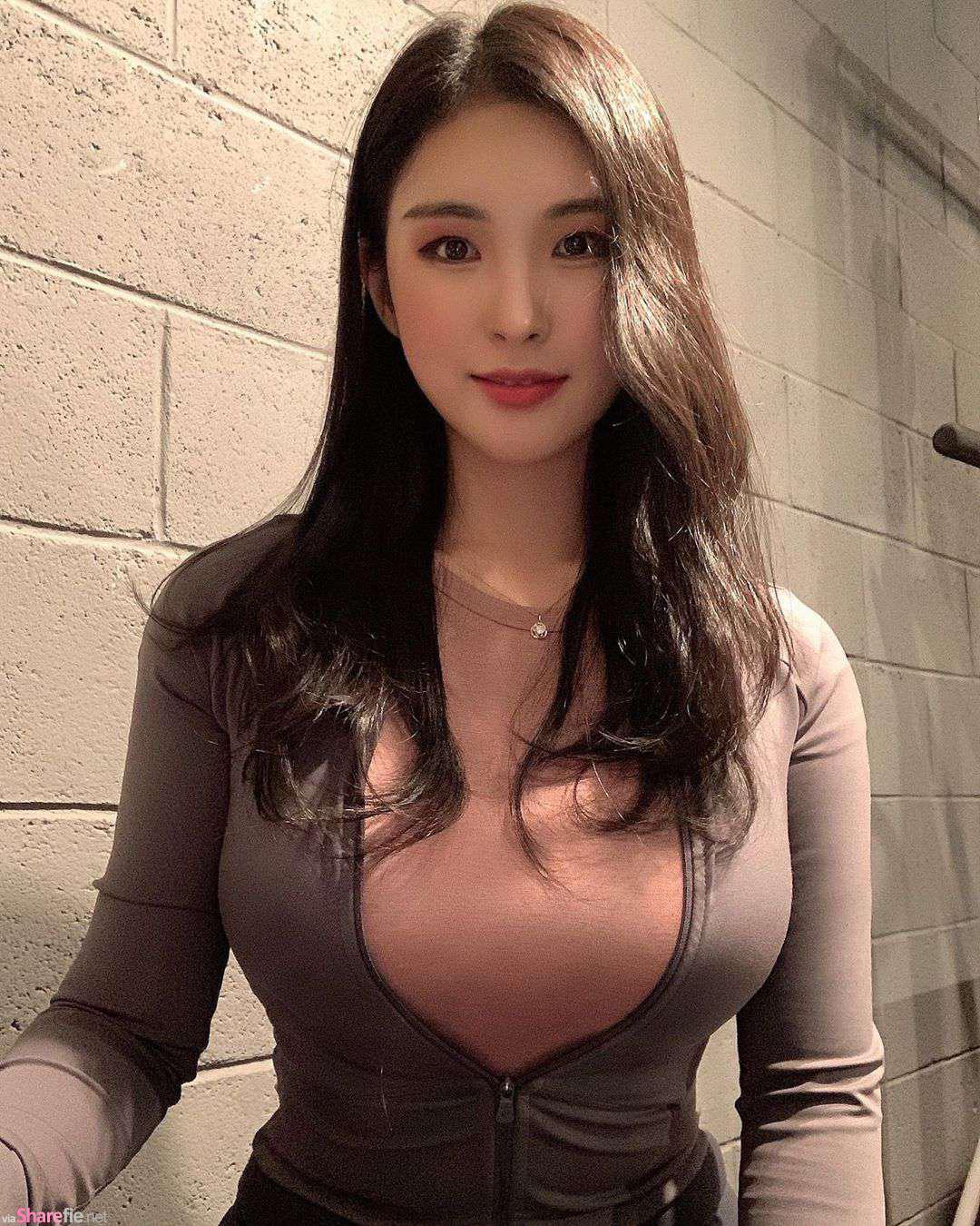 韩国健身姐姐,运动衣包紧紧曲线让人受不了