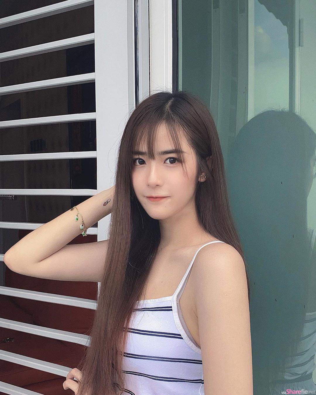 大马清新正妹JingEn代言内衣,雪乳推起来超吸睛