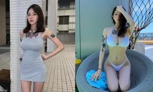 刺青凶妹颜值美身材超正,紧身短裙疑似走光,眼尖网友:曝光了唷