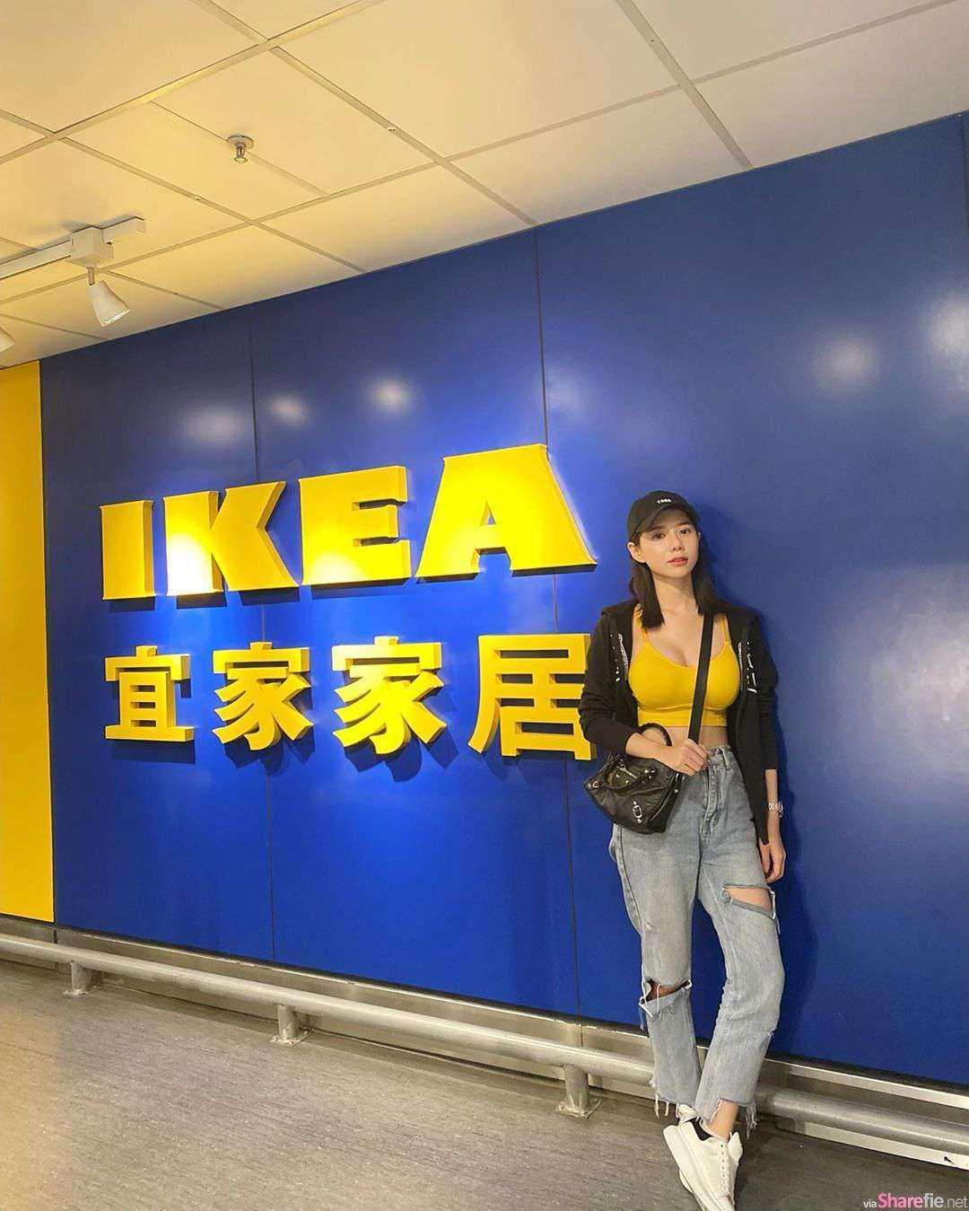 网友求门长腿超兇Ikea正妹,传送门出现后网友爆推